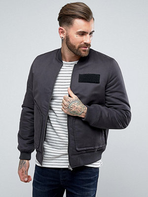 Bomberjackor - ASOS Bomber Jacket with Pocket Detail in Black
