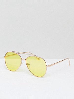 Solglasögon - Skinnydip Yellow Lens Aviator Sunglasses