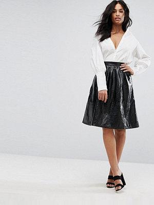Vero Moda Vinyl Skater Skirt