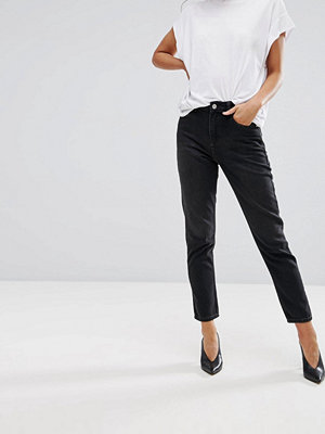 Warehouse Mom Cut Jeans - Washed black