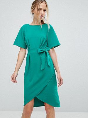 Closet London Tie Front Dress With Kimono Sleeve