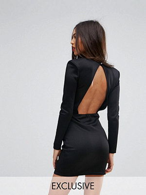 Missguided Open Back Mini Dress With Shoulder Pads