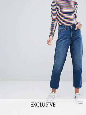 Monki Taiki High Waist Mom Jeans - Classic blue