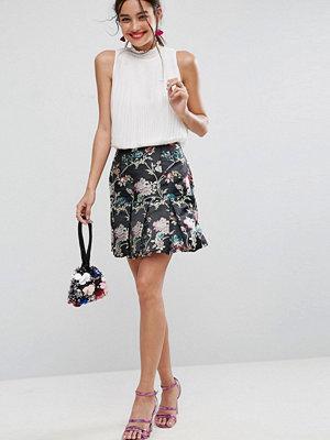 ASOS Puffball Mini Skirt in Jacquard