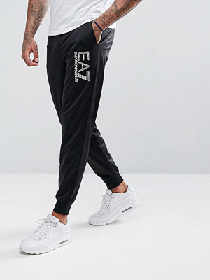 Byxor - EA7 Mirrored Logo Sweat Joggers In Black