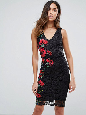 Paper Dolls Floral Lace Bodycon Dress