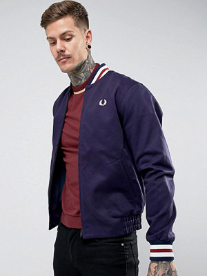 Bomberjackor - Fred Perry REISSUES Tipped Varsity Bomber Jacket in Navy