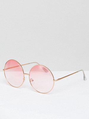 Skinnydip Round Pink Lens Sunglasses
