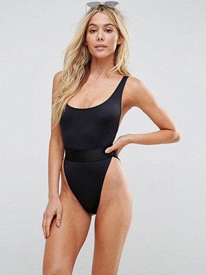 Baddräkter - ASOS High Leg Elastic Waist Swimsuit