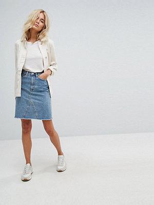 Weekday Denim Skirt with Raw Hem