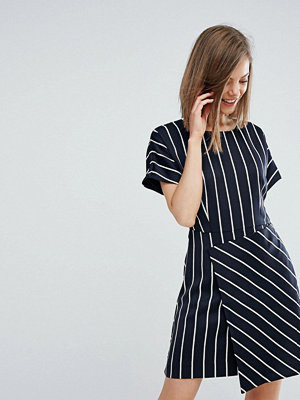 Warehouse Stripe Dress With Wrap Dress