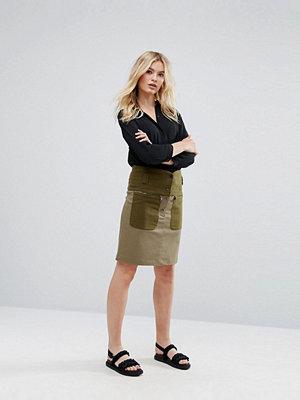Max & Co Max&Co Deflusso Kjol med funktionsknapp Khaki green
