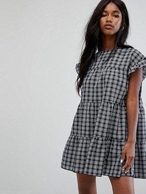 PrettyLittleThing Check Smock Mini Dress