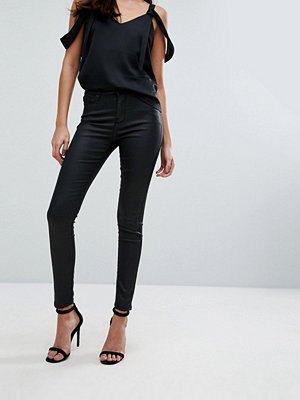Warehouse Leather Look Skinny Cut Jeans