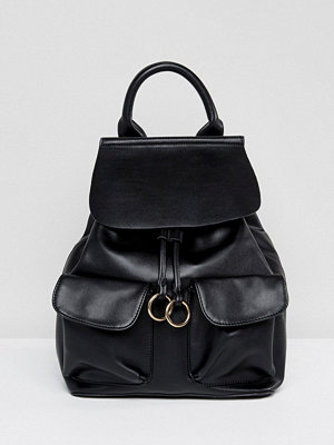 Glamorous ryggsäck Simple Foldover Backpack With Ring Detail