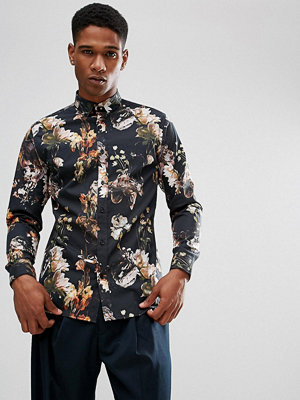 Skjortor - Selected Homme Slim Fit Shirt With All Over Print