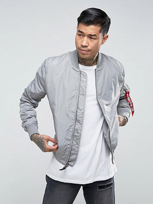 Bomberjackor - Alpha Industries MA-1 TT Bomber Jacket Slim Fit in Silver