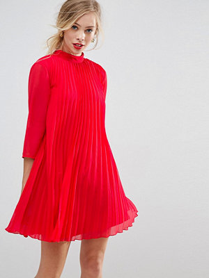 ASOS Pleated Trapeze Mini Dress