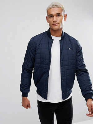 Bomberjackor - Jack Wills Blackden Padded Nylon Bomber Jacket In Navy