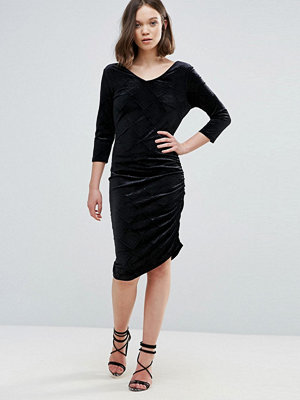 Ichi Velvet Asymmetric Dress