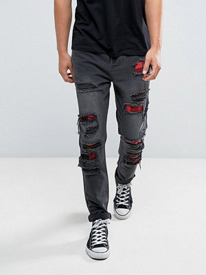 Cayler & Sons Skinny Jeans In Black With Distressing