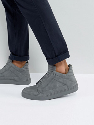 Sneakers & streetskor - Steve Madden Dodge Hi Top Trainers In Grey