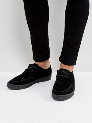Sneakers & streetskor - Fred Perry Shields Suede Crepe Trainers in Black