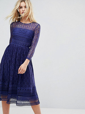 ASOS PREMIUM Lace Skater Midi Dress