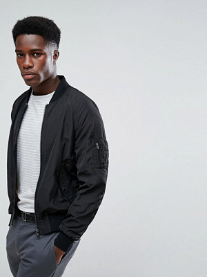 Bomberjackor - Stradivarius Bomber Jacket In Black