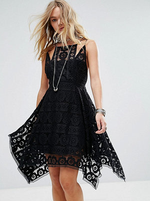 Free People Just Like Honey Lace Drape Hem Dress