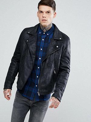 Skinnjackor - ASOS Faux Leather Biker Jacket In Black