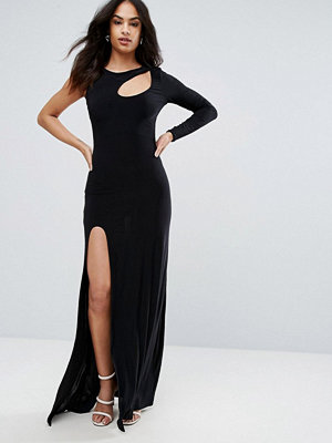 City Goddess Spliced Maxi Dress With Thigh Split