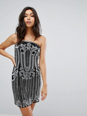 Starlet Embellished Bandeau Midi Dress with Split
