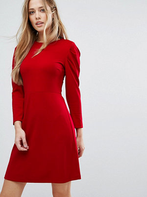 Warehouse Puff Sleeve Skater Dress