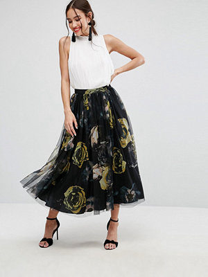 ASOS Tulle Prom Skirt in Floral Print