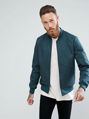 Bomberjackor - ASOS Smart Bomber Jacket in Bottle Green