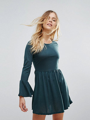Brave Soul Flare Sleeve Jersey Dress