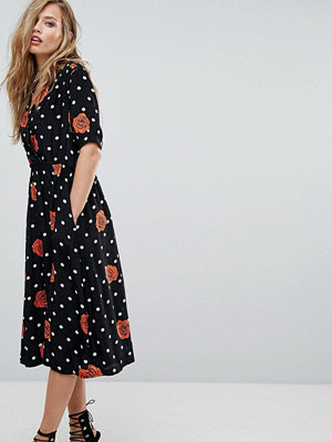 Diesel Polka Dot and Floral Button Through Dress
