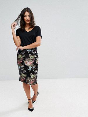 Qed London Floral Midi Skirt