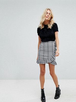 Vero Moda Check Frill Skirt