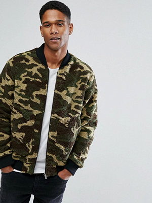 Bomberjackor - Jack & Jones Originals Teddy Bomber In Camo