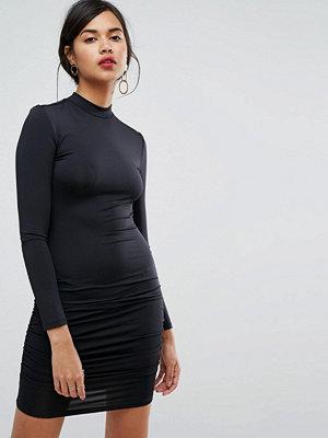 Ivyrevel Long Sleeve High Neck Mini Bodycon Dress