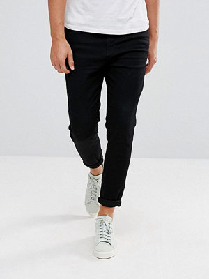 Pull&Bear Carrot Fit Jeans In Black