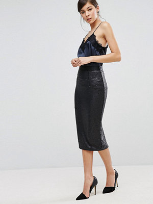 Coast Ashlynne Sequin Pencil Skirt - Black 80