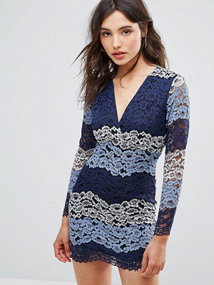 Oeuvre Multicolour Lace Dress