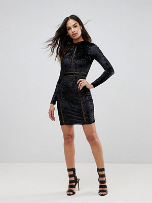 Club L Cutout Mini Dress With Long Sleeves