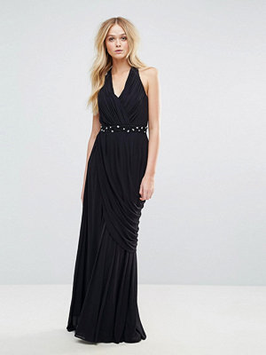 City Goddess Halter Neck Slinky Maxi Dress