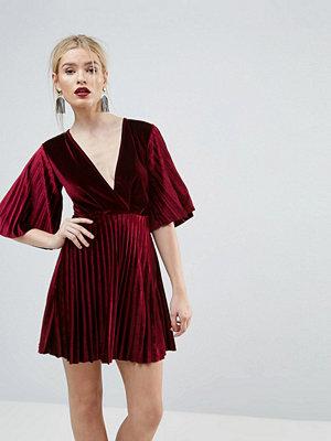 ASOS Pleated Velvet Kimono Mini Dress