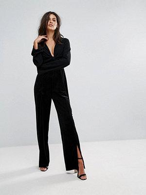 Vero Moda Velvet Plunge Jumpsuit