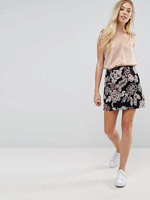 New Look Jacquard Mini Skirt